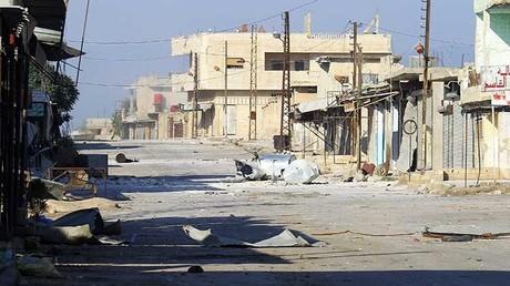 La ciudad siria de Kafr Nabudah en Hama