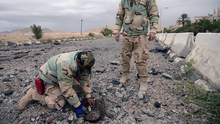 Zapadores sirios desactivan 1230 minas del Estado Islámico en Palmira