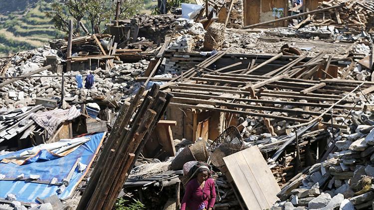 Pueblo destruido por el terremoto que sacudió Nepal el 25 de abril de 2015