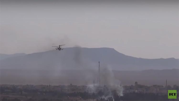 Video: El ultramoderno helicóptero Alligator aplasta al Estado Islámico en el campo de batalla sirio