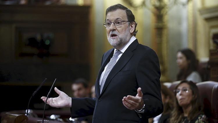 Mariano Rajoy, Presidente del Gobierno de España pronuncia un discurso durante un debate de investidura en el Parlamento de Madrid, España, el 2 de marzo de 2016.
