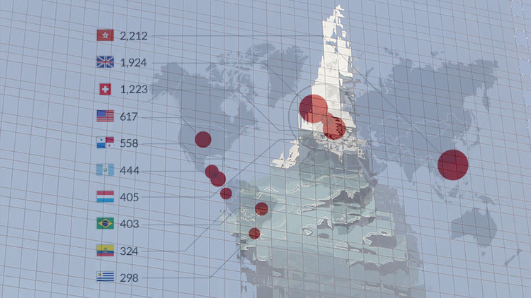 Los 10 países con mayor número de empresas implicadas en la caso de los 'papeles de Panamá'