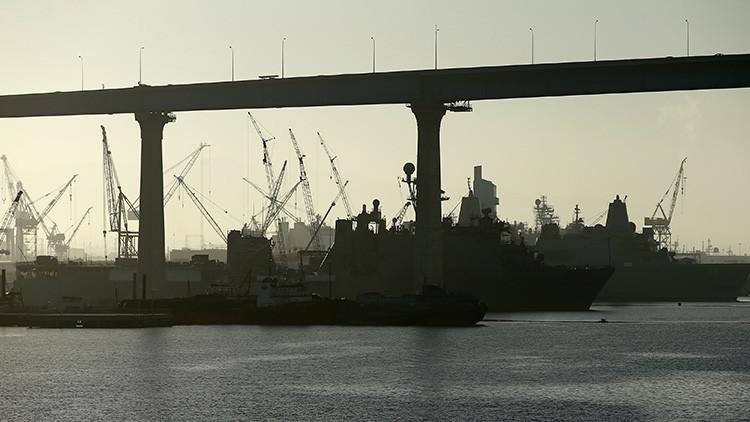 Declaran una amenaza de bomba en una base naval en EE.UU.