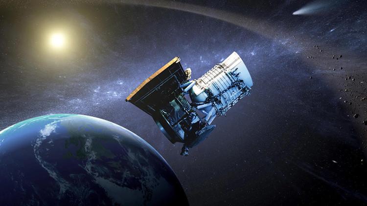 Modelo artístico del telescopio espacial de exploración infrarroja WISE