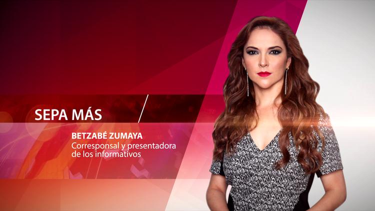 Betzabé Zumaya, corresponsal y presentadora de los informativos