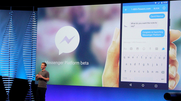 App Store tiembla: Facebook lanza una plataforma de 'chatbots' para Messenger