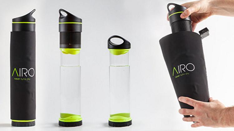 Especial para aventureros: inventan una botella capaz de convertir aire en agua