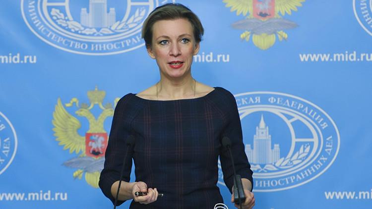 La portavoz del Ministerio del Exterior de Rusia María Zajárova.