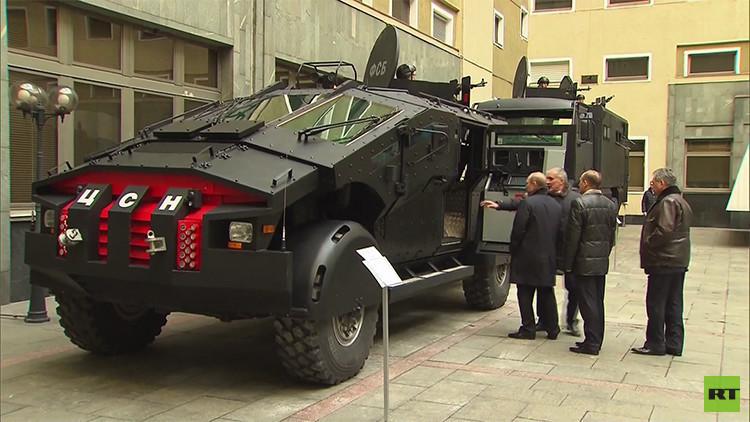 'Batimóvil' ruso y el Tigr del FSB debutan en una operación antiterrorista (Video)