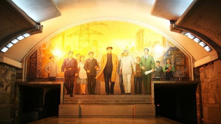 Metro de Pionyang, Corea del Norte