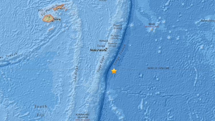 Un sismo de 5,8 sacude el sureste de Tonga