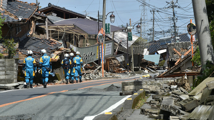 Publican video de la espuma que cubrió una ciudad japonesa tras los terremotos