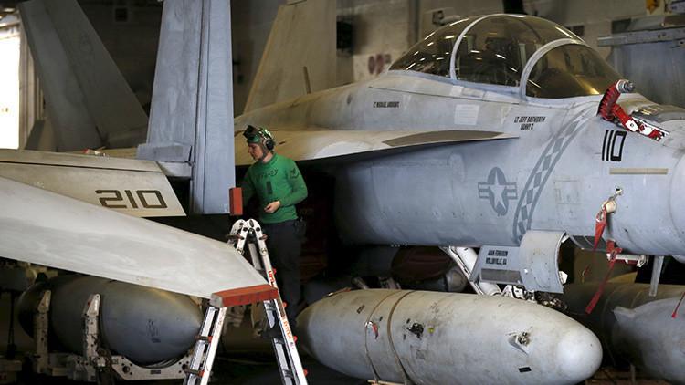 Dos tercios de los aviones de combate de la Marina de EE.UU. ya no pueden volar