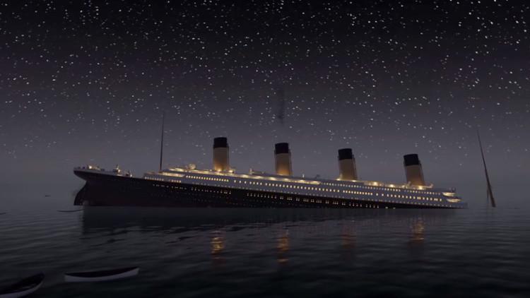 Video: Viva el naufragio del Titanic en tiempo real