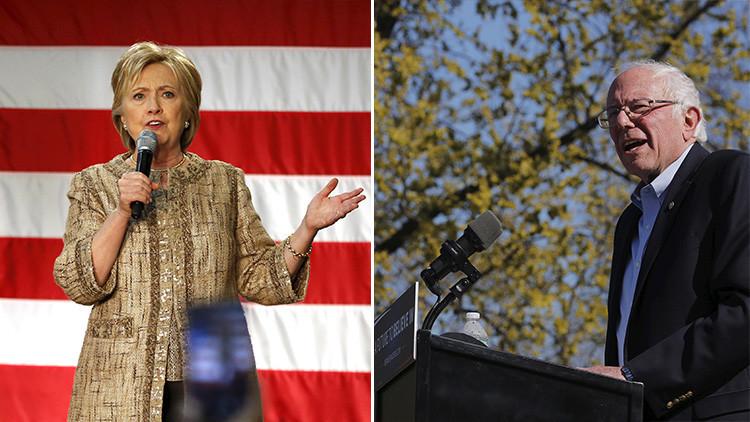 """Sanders le pisa los talones: """"¡A la campaña de Clinton le llegó la hora de caer presa del pánico!"""""""