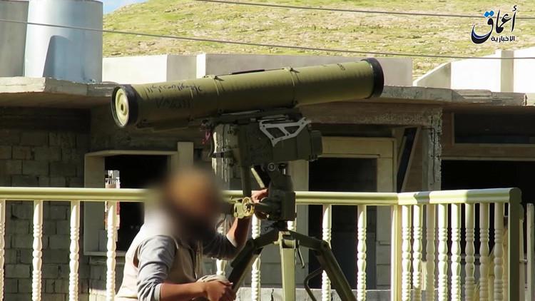 Video: Un misil del Estado Islámico impacta contra un tanque turco en Irak