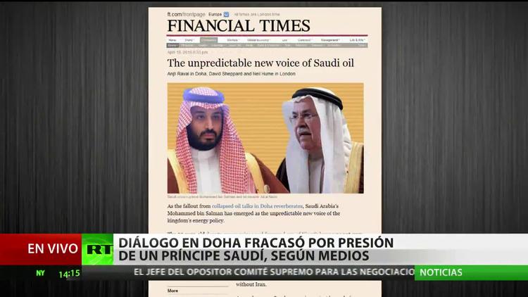 El diálogo en Doha fracasó por la presión de un príncipe saudí