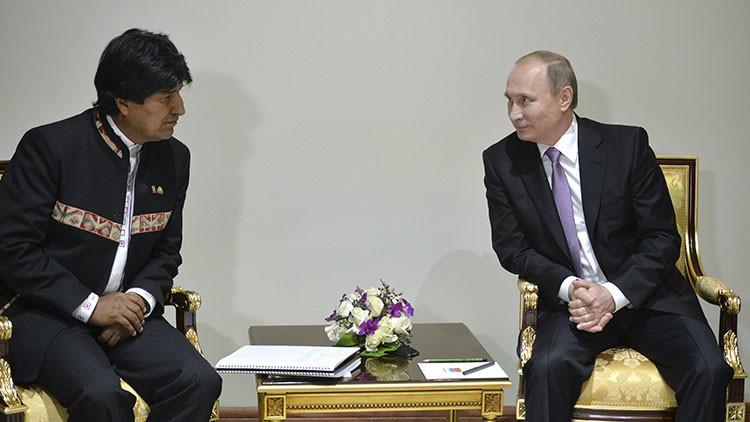 Putin y Morales acuerdan intensificar la cooperación comercial entre Rusia y Bolivia