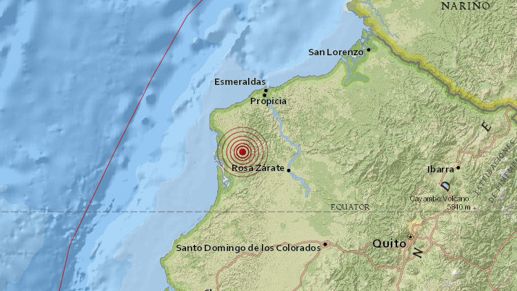 Otro sismo de magnitud 5,4 sacude Ecuador
