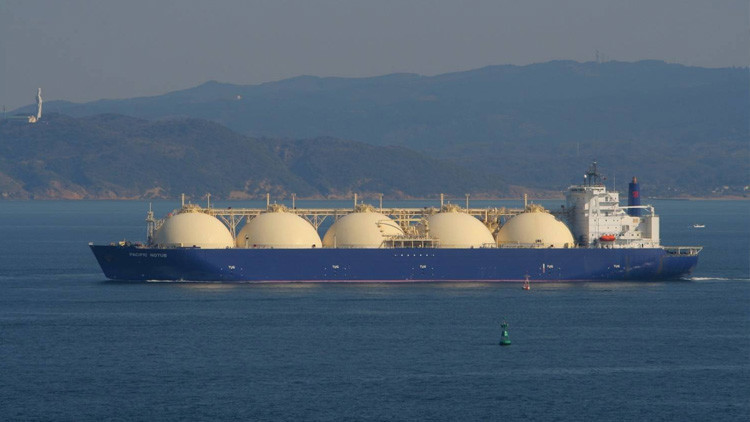 Ee uu env a el primer buque de gas natural licuado a for Estanques de gas licuado