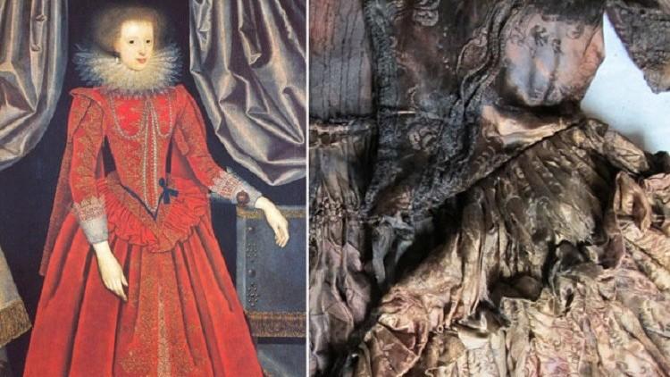 Hallan el vestuario de una dama de honor del siglo XVII en un barco hundido