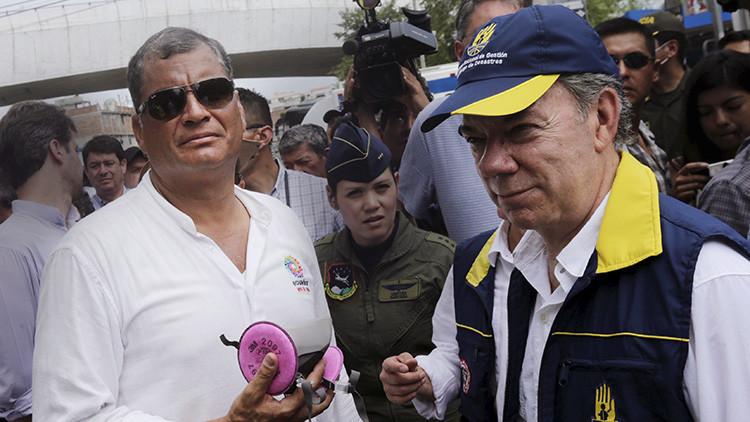 """Correa a Santos: """"Lo que Colombia ha hecho por Ecuador es impresionante"""""""