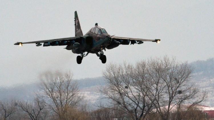 Video: maniobras masivas de aviones rusos de ataque a tierra en el sur del país