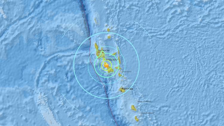 Un potente sismo de 7,0 sacude el Pacífico Sur