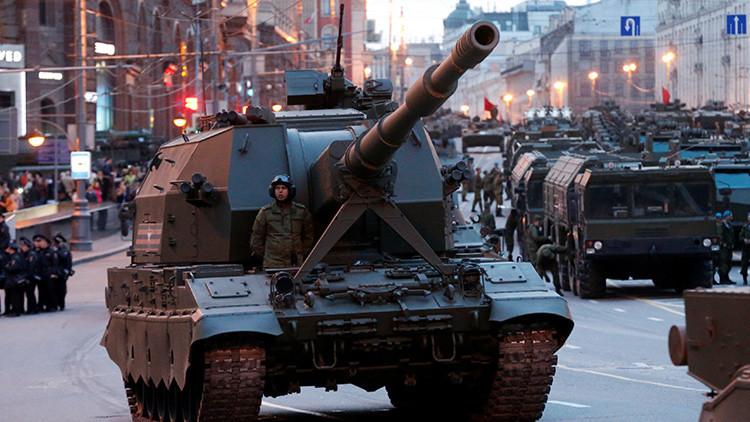 VIDEO: primer ensayo nocturno del Desfile del Día de la Victoria en Moscú