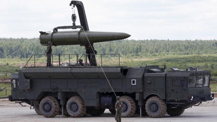 Un misil de crucero del sistema táctico Iskander-M. Foto ilustrativa