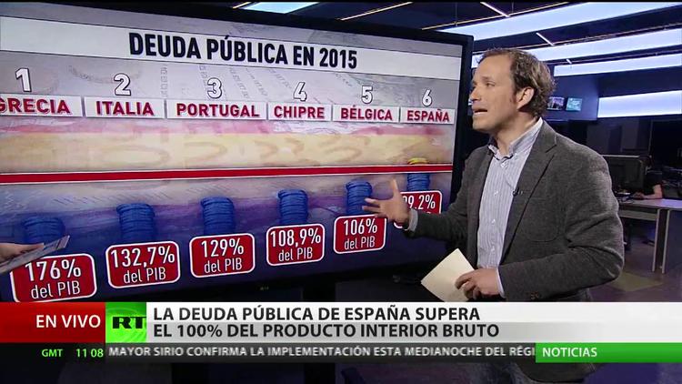 La española, la sexta economía más endeudada de la Unión Europea
