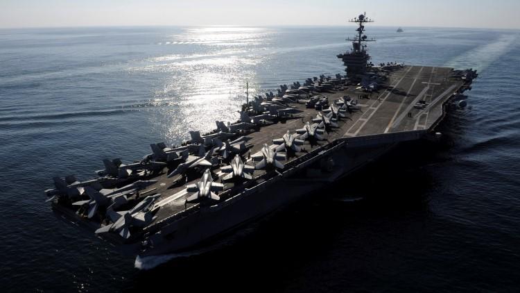 El portaaviones USS John C. Stennis de la Marina de EE.UU.