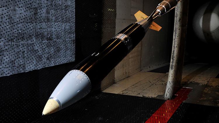 Una bomba B61-12 preparada para una prueba en un centro científico del estado Tennesse, EE.UU.