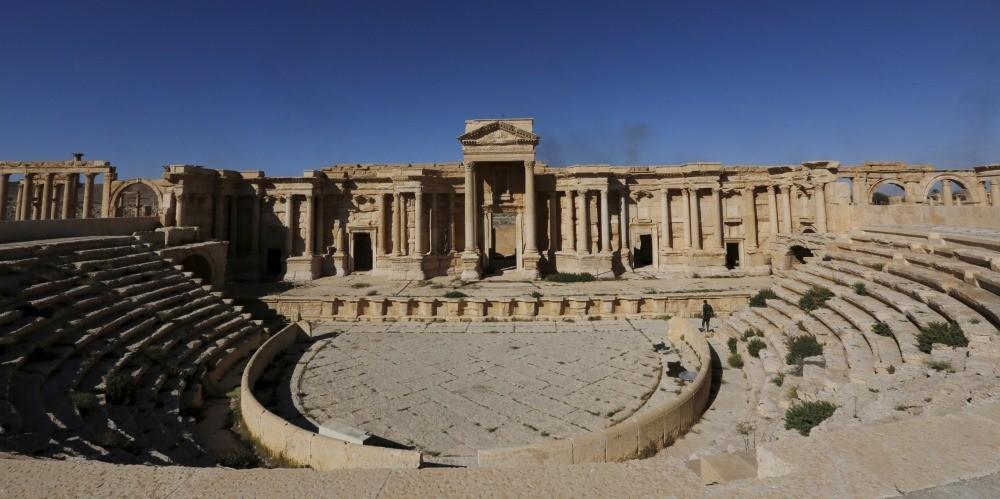 Antiguos monumentos de la ciudad siria de Palmira