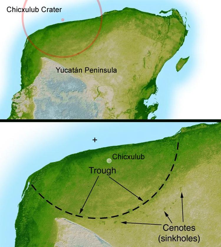 El cráter Chicxulub