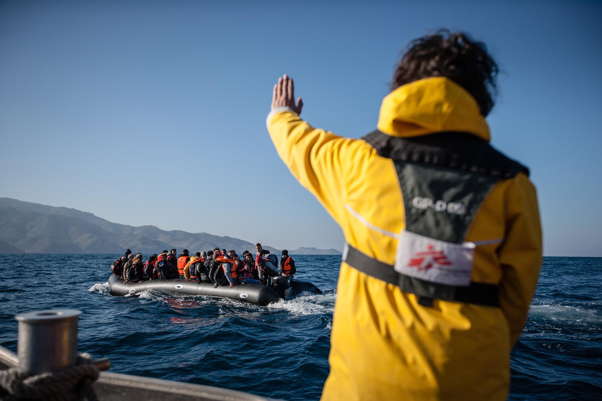 Problemas frente a las costas de Lesbos, en Grecia