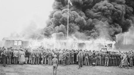 Liberación del campo de concentración de Bergen-Belsen en mayo de 1945