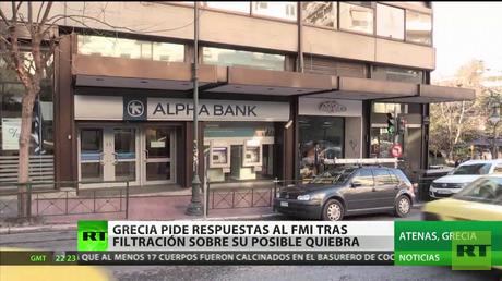 Grecia pide respuestas al FMI tras filtración sobre su posible quiebra