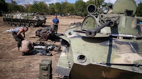 El material bélico destruido del Ejército de Ucrania