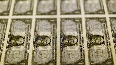 Billetes bancarios en la Oficina de Grabado e Impresión de EE.UU., en Washington.