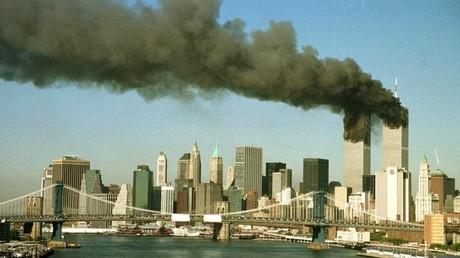 Las Torres Gemelas de Nueva York después del ataque con dos aviones secuestrados.