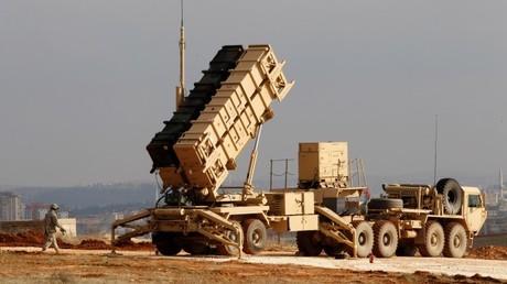Una batería de misiles antiaéreos estadounidense Patriot