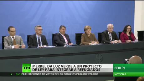 Merkel da luz verde a un proyecto de ley para integrar a los refugiados