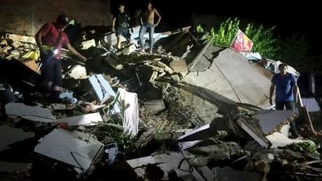 Secuelas del terremoto en la ciudad de Manta