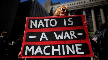 Una protesta contra la OTAN en Estados Unidos