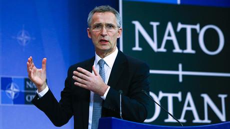El secretario general de la OTAN, Jens Stoltenberg, en una rueda de prensa durante la cumbre en Bruselas, Bélgica.