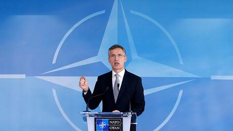 El secretario general de la OTAN, Jens Stoltenberg, durante una rueda de prensa tras la reunión del Consejo OTAN-Rusia en Bruselas, 20 de abril de 2016.