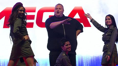 El fundador de Mega, Kim Dotcom, durante una gala de presentación