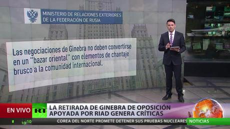 Ginebra: La retirada de la oposición siria apoyada por Riad genera críticas