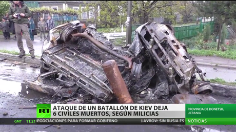 Un ataque con artillería en Donbass deja al menos 6 civiles muertos
